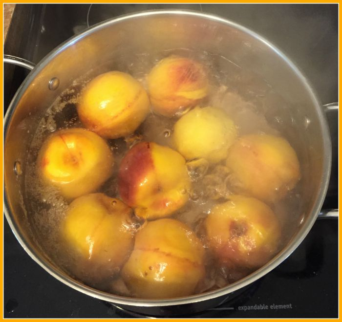 blanching peaches