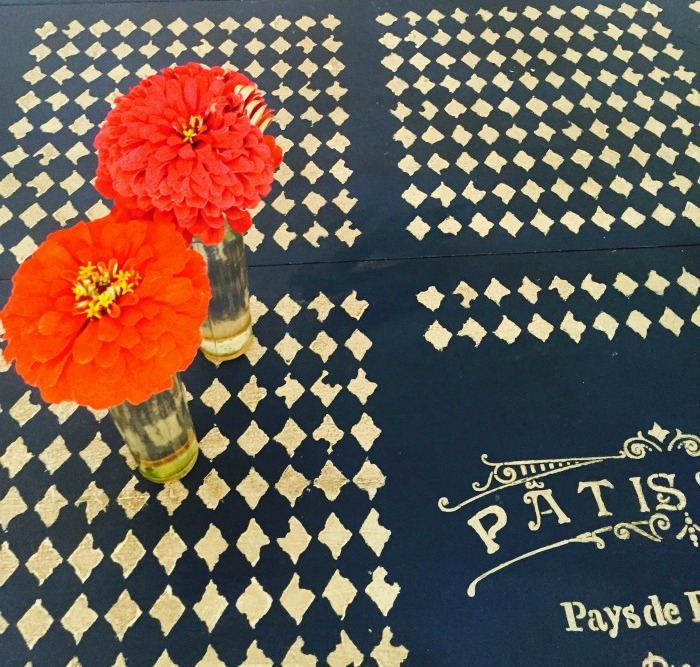 stenciled-dining-room-table-for-business-card