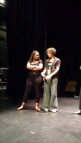 Accomplished actors Yolanda London and Ashley Hare collaborating on an emotional scene.