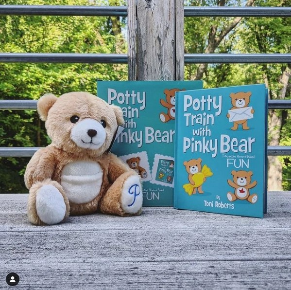 If you are thinking about starting potty training or are in the process, Pinky Bear can help! Forever My Little Moon
