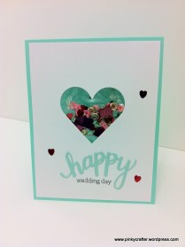 Hero arts Happy Wedding Day shaker cards
