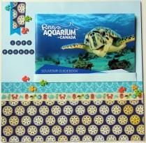 scrapbook memorabilia of aquarium guidebook