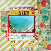 crate paper Hike scrapbook layout