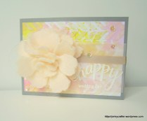 mixed media happy wedding card