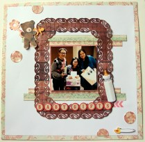 Baby Gifts scrapbook layout