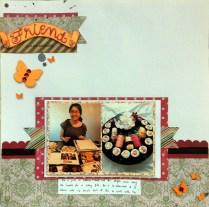 friend scrapbook layout
