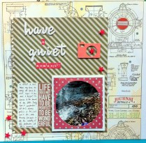 Have a quiet moment scrapbook layout