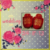 The wedding day cover scrapbook layout