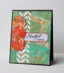 Heartfelt Thanks mixed media card