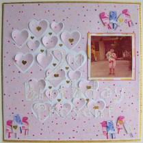 Birthday scrapbook layout