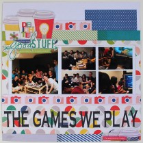The games we play scrapbook layout