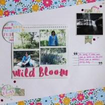 Wild bloom summer scrapbook layout