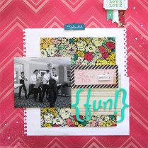 Fun wedding Scrapbook layout