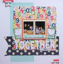 Scrapping Instax photos with polka dots