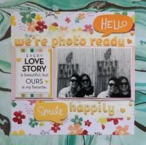 photo ready scrapbook layout