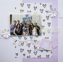 great people Scrapbook layout (limited color scheme)