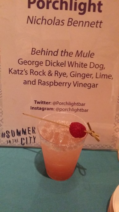 Behind the Mule George Dickel White dog Katz Rock and Rye Ginger and Lime Raspberry Vinegar