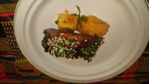 sorrel glazed spare ribs with daikon escovitch