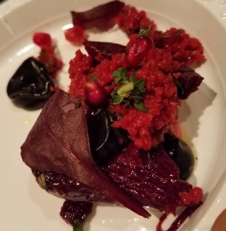 Baby Beets and Pomegranate Salad Charred Fennel Bulgar Wheat