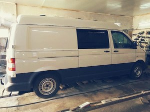 VW Transporter in the garage