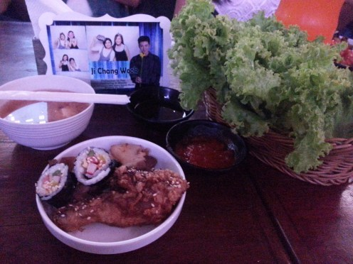 Ji Chang Wook Ph 1st Fan Gathering in Manila - Korean Dinner Set Menu