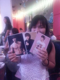 raffle winner of JCW oh so handsome post cards~