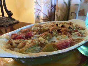 Gluten-free rhubarb compote? Yes, please!