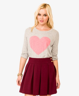 Forever 21 Heathered Heart Pullover