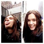 """josephine_skriver """"Just quickly catching a snowflake between casting and fittings today ;D """""""
