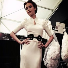 """josephine_skriver """"Loved my outfit for Carolina Herrera :) the collection was so classic yet super sexy :) just wow """""""