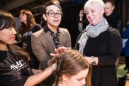 Christian Siriano backstage