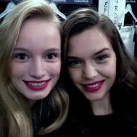 josephine_skriver @maudwelzen and I backstage at DVF