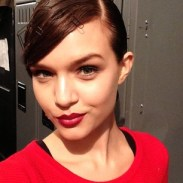 "josephine_skriver ""Make-up look by @patmcgrathreal backstage at Reem Acra"""