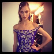 """karliekloss """"Finale gown at #ODLR #NYFW"""""""
