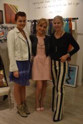 Katerina Cameron, Dayna Vasilik, and designer Amy Conway