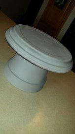 Clay pots with chalk paint