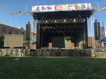 Main Stage for 80/35 Music Festival