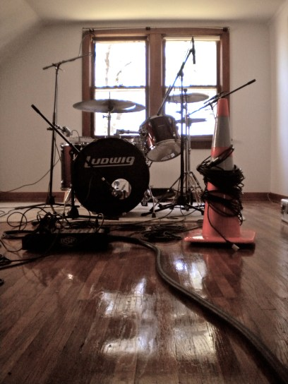 Tracking a drumset