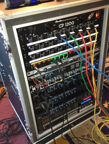 32 channel recording and playback rack for the band Ellesello