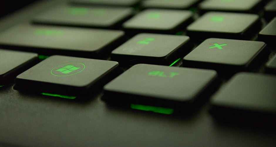 close up of the keys on a laptop keyboard