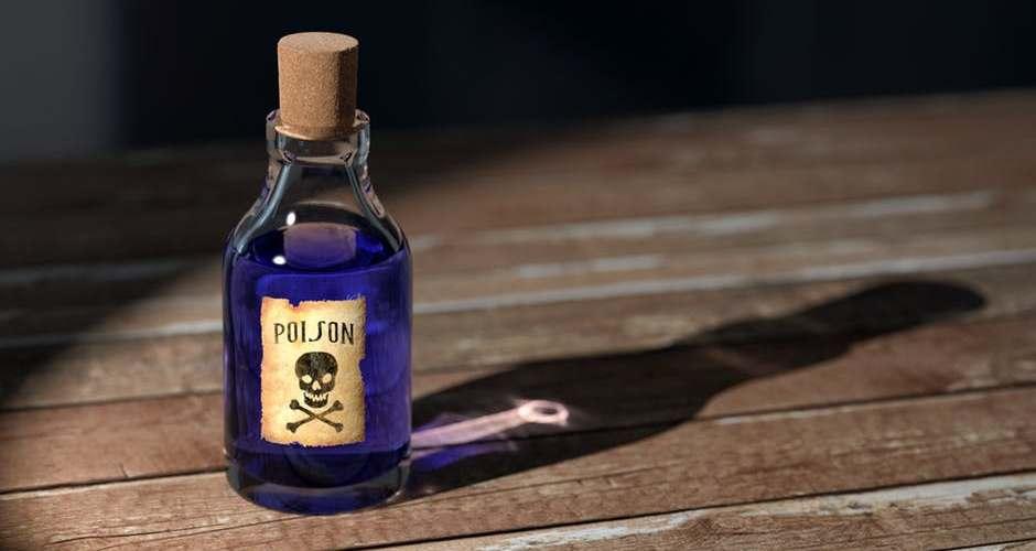 """bottled labeled """"poison"""""""