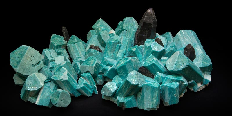 Large Amazonite Smoky Quartz Combination