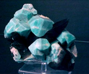 Large Amazonite with Smokies
