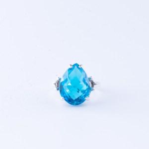 Swiss Blue Topaz Cocktail Ring