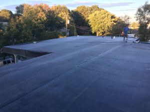 Commercial roof installation by Pinnacle Roofing of Ne wEngland