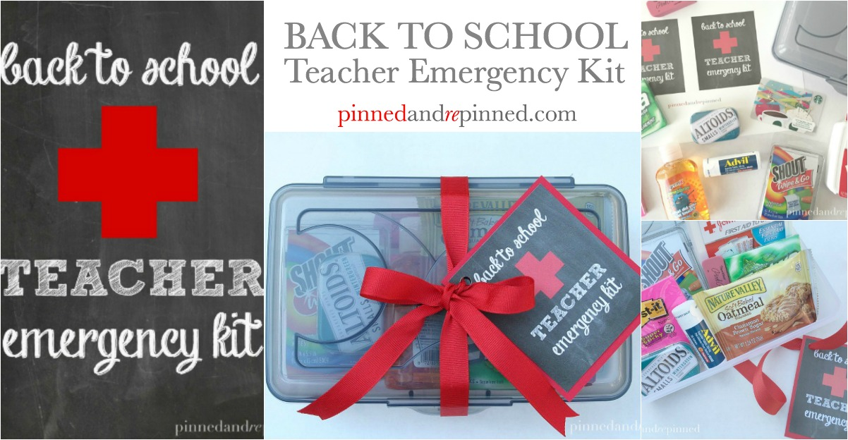 Back To School Teacher Emergency Kit Pinned And Repinned
