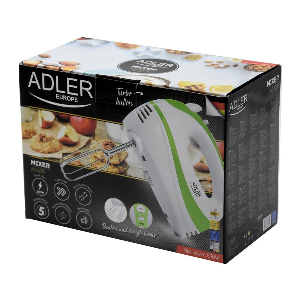 mixer adler 300 w 5 speed levels 4 accessories 3