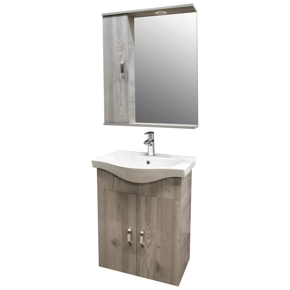 Mobilje tualeti ALBA 65 DROP melamine kafe 222175 1
