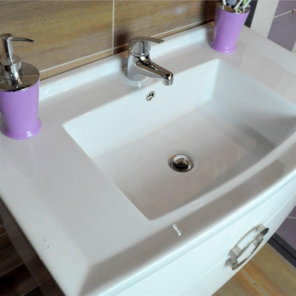 Mobilje tualeti Artemis PVC e bardhe 23604 4