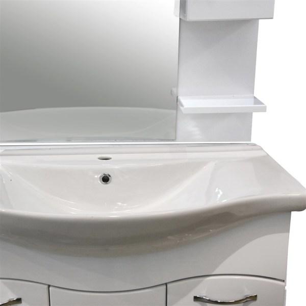 Mobilje tualeti KORAL 85 MDF e bardhe 224489 1